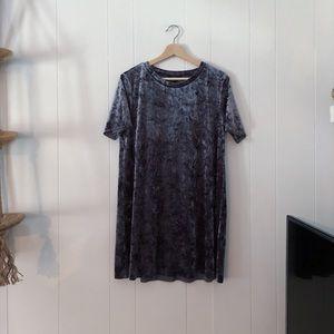 Forever 21 • Crushed Velvet • T-Shirt Shift Dress